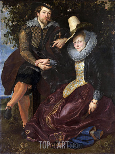 Rubens and Isabella Brant under the Honeysuckle, c.1609 | Rubens| Painting Reproduction