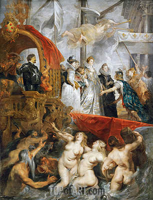 Rubens | The Arrival of Marie de Medici in Marseilles, 3rd November 1600, c.1621/25