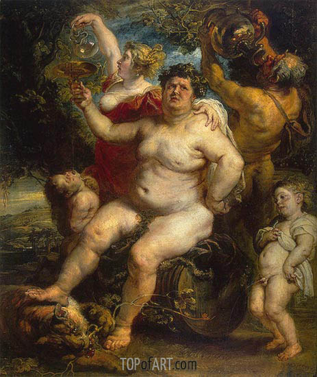 Bacchus, c.1638/40 | Rubens | Painting Reproduction