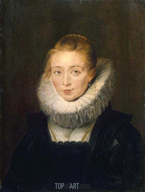 Portrait of Lady-in-Waiting to the Infanta Isabella, c.1624/26 | Rubens| Painting Reproduction