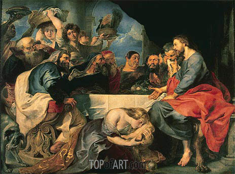 Rubens | Feast in the House of Simon the Pharisee, c.1618/20