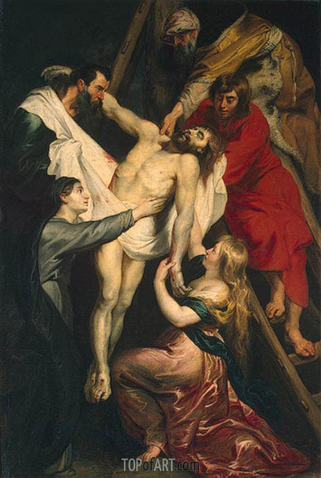 The Descent from the Cross, c.1617/18 | Rubens | Gemälde Reproduktion