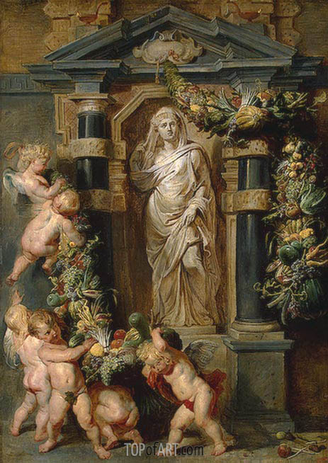 Statue of Ceres, c.1615 | Rubens | Gemälde Reproduktion