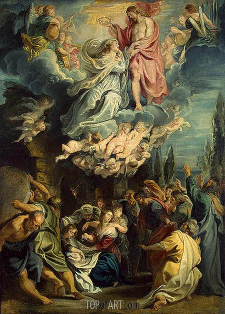 The Coronation of the Virgin, c.1609/11 | Rubens | Gemälde Reproduktion