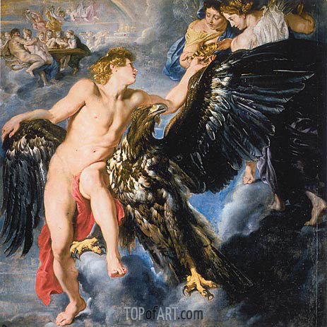 The Abduction of Ganymede, c.1611/12 | Rubens | Gemälde Reproduktion