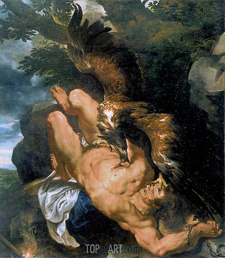 Prometheus Bound (Rubens and Snyders), c.1610/11 | Rubens | Painting Reproduction