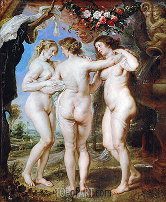 The Three Graces, 1639 | Rubens| Painting Reproduction