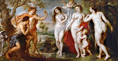 The Judgement of Paris, c.1639 | Rubens| Painting Reproduction