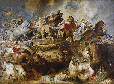 The Battle of the Amazons, 1618 | Rubens| Painting Reproduction