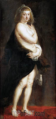 Helena Fourment in a Fur Wrap (Het Pelsken), 1638 | Rubens | Painting Reproduction