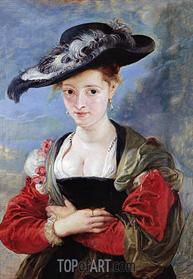 The Straw Hat (Portrait of Susanna Lunden), c.1625 | Rubens| Painting Reproduction
