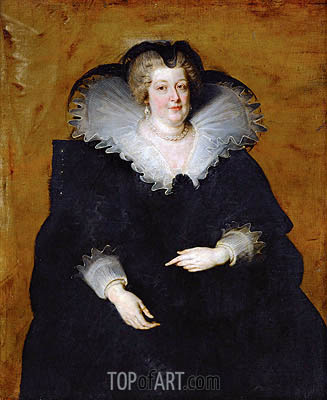 Marie de Medici, Queen of France, c.1622 | Rubens| Gemälde Reproduktion