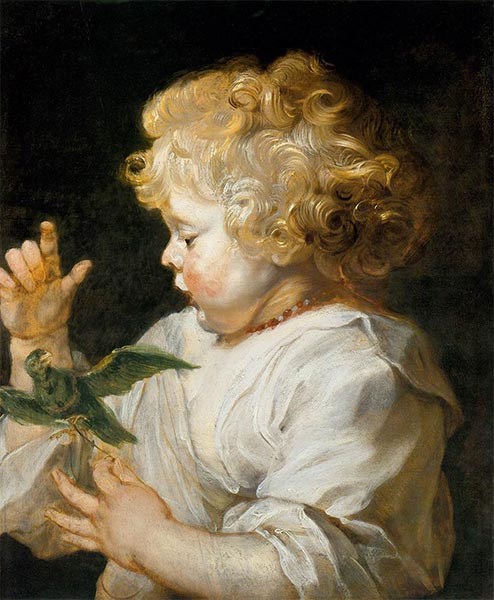Boy with Bird, c.1616 | Rubens | Gemälde Reproduktion