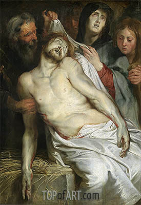 Entombment (Lamentation of Christ), c.1618 | Rubens | Gemälde Reproduktion