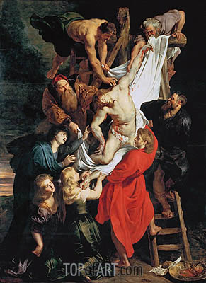 The Descent from the Cross, c.1611/14 | Rubens| Gemälde Reproduktion