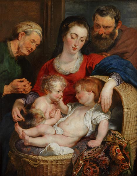 Madonna of the Basket (Holy Family), c.1615 | Rubens | Gemälde Reproduktion