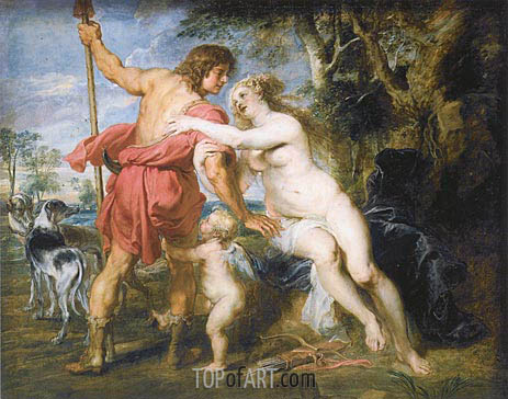 Venus and Adonis, c.1635/38 | Rubens | Painting Reproduction