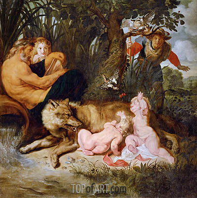 Romulus and Remus, c.1615/16 | Rubens | Painting Reproduction