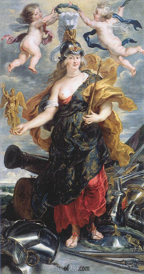 Marie de Medici as Bellona, c.1622/25 | Rubens | Painting Reproduction