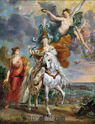 The Triumph of Juliers, 1st September 1610 (The Medici Cycle), c.1621/25 | Rubens | Gemälde Reproduktion