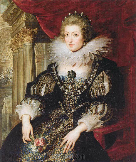 Portrait of Anne of Austria, c.1621/25 | Rubens| Painting Reproduction