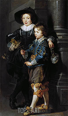 Double Portrait of Albert and Nikolaus Rubens, c.1626/27 | Rubens | Painting Reproduction