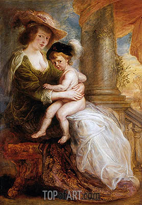 Rubens | Helena Fourment with her Eldest Son, Frans, c.1635