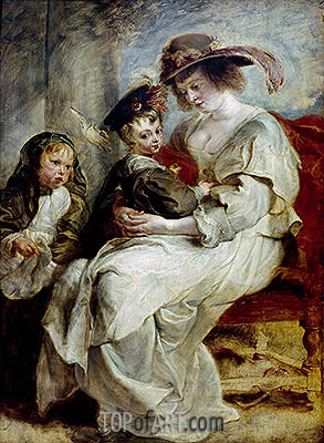 Helena Fourment with her Children, c.1636/37 | Rubens | Gemälde Reproduktion