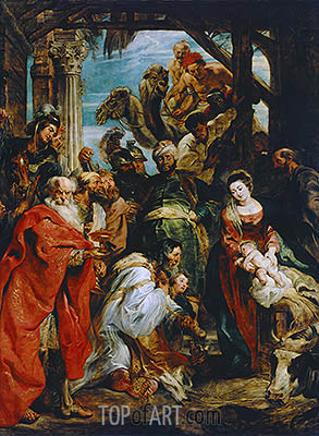 The Adoration of the Magi, 1626 | Rubens | Gemälde Reproduktion