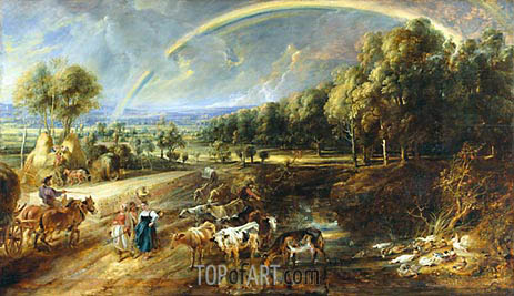The Rainbow Landscape, c.1636/37 | Rubens| Painting Reproduction