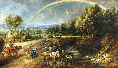 The Rainbow Landscape, c.1636/37 | Rubens | Gemälde Reproduktion