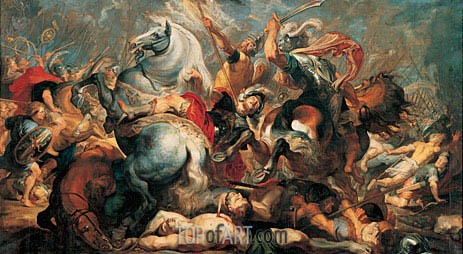 The Death of Decius Mus in Battle, 1618 | Rubens | Painting Reproduction