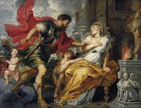 Mars and Rhea Silvia, c.1616/17 | Rubens| Painting Reproduction