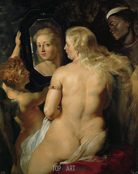 Venus in Front of the Mirror, c.1613/14 | Rubens | Gemälde Reproduktion