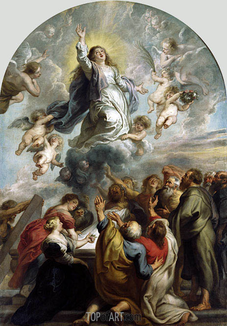 The Assumption of the Virgin, c.1637 | Rubens | Gemälde Reproduktion