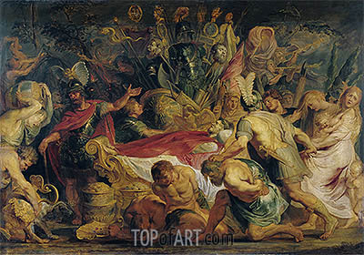 The Obsequies of Decius Mus, c.1616/17 | Rubens | Painting Reproduction