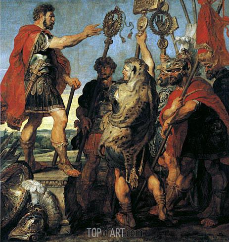 Decius Mus Relating his Dream, c.1616/17 | Rubens | Gemälde Reproduktion