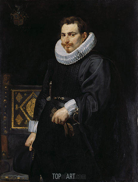 Portrait of Jan Vermoelen, 1616 | Rubens | Painting Reproduction