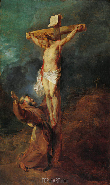Rubens | St. Francis of Assisi before the Crucified Christ, 1625
