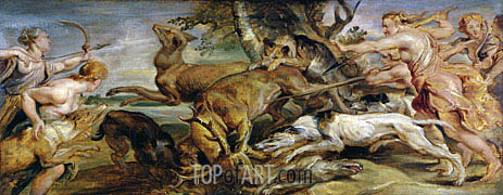 Diana's Hunt, 1628 | Rubens| Painting Reproduction
