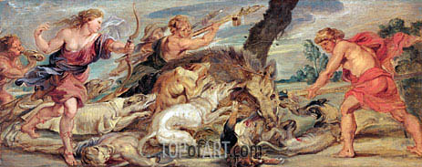 The Hunt of Meleager and Atalanta, c.1628 | Rubens | Painting Reproduction
