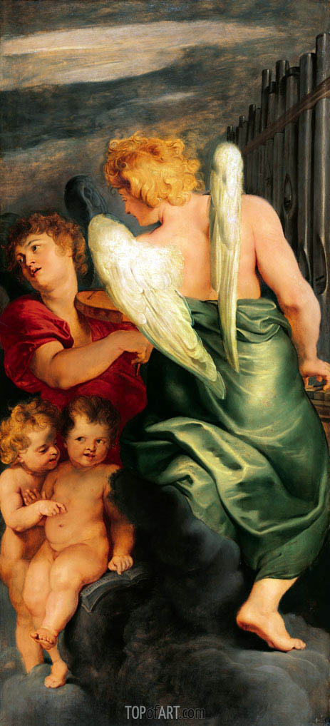 Four Music Making Angels, c.1615/20 | Rubens | Painting Reproduction