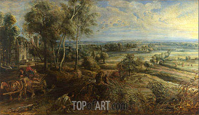 A View of Het Steen in the Early Morning, 1636 | Rubens| Painting Reproduction