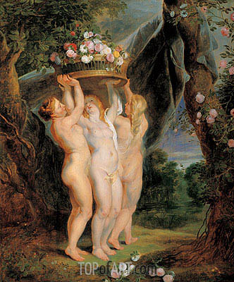 The Three Graces,  | Rubens| Gemälde Reproduktion
