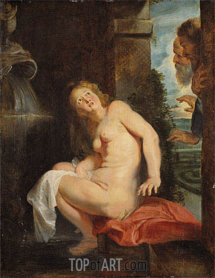 Susanna and the Elders, 1614 | Rubens | Painting Reproduction