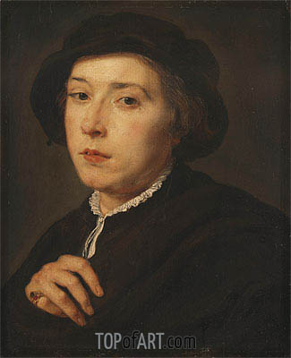 Young Man with a Black Cap, 1615 | Rubens| Gemälde Reproduktion