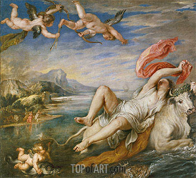 The Rape of Europa, 1628 | Rubens | Gemälde Reproduktion