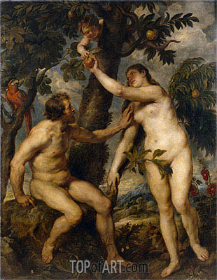 Adam and Eve (after Titian), c.1628/29 | Rubens | Gemälde Reproduktion
