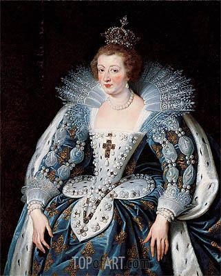 Portrait of Anne of Austria, Queen of France, c.1622/25 | Rubens | Gemälde Reproduktion