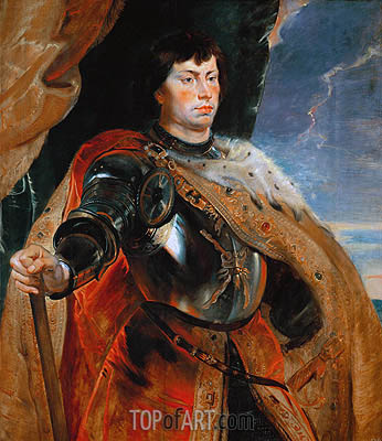 Charles the Bold of Burgundy, c.1618 | Rubens | Gemälde Reproduktion